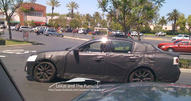 2012 Lexus GS Spy Shot Side