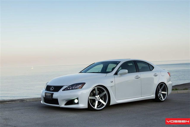 Lexus IS-F on Vossen VVSCV3 Wheels 1