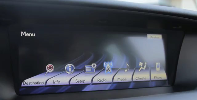 2013 Lexus GS Navigation Screen