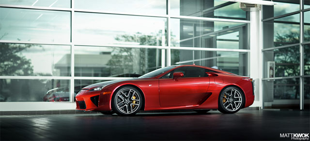 Pearl Red Lexus LFA #022 Side Profile
