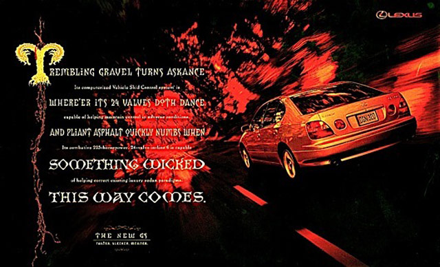 Lexus GS 400 Something Wicked This Way Comes 1