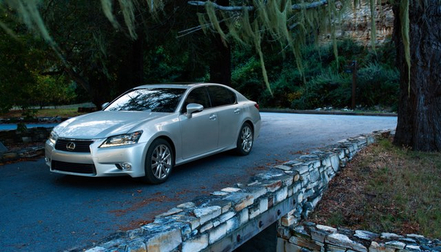 2013 Lexus GS on a bridge