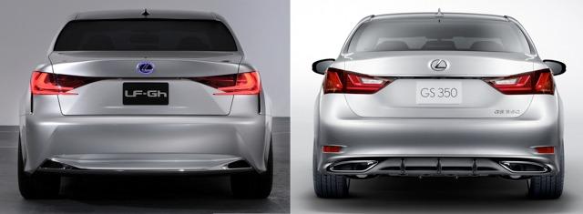 2013 Lexus GS vs LF-Gh Concept