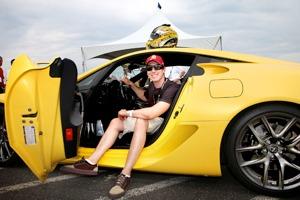 Kyle Busch in Lexus LFA