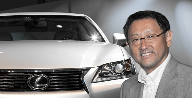 Akio Toyoda at Lexus GS Launch