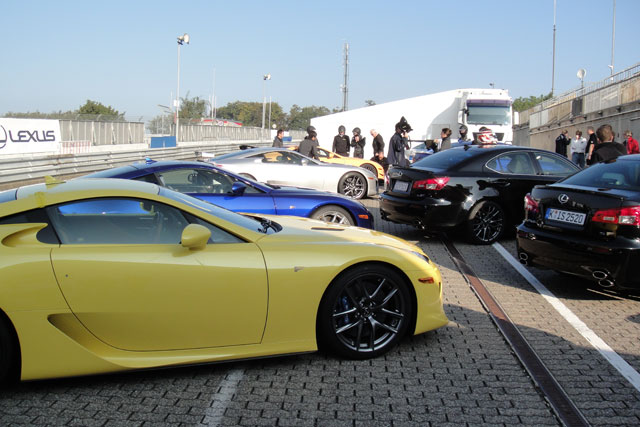 Lexus LFAs at Nürburgring