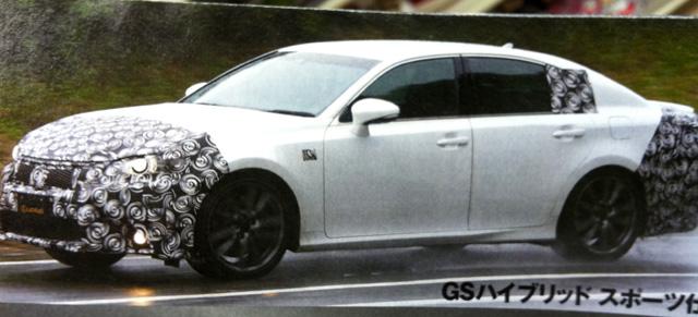 Lexus GS F-Sport Spy Shot