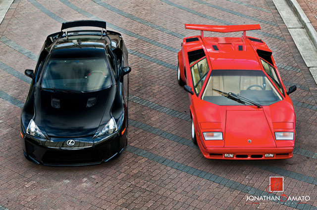 Lexus LFA & Lamborghini Countach