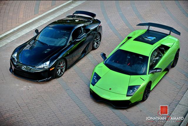 Lexus LFA & Lamborghini Murcielago