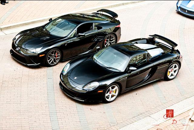Lexus LFA & Porsche Carrera GT