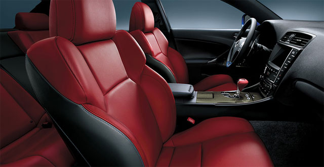 2012 Lexus IS F Red Leather Interior