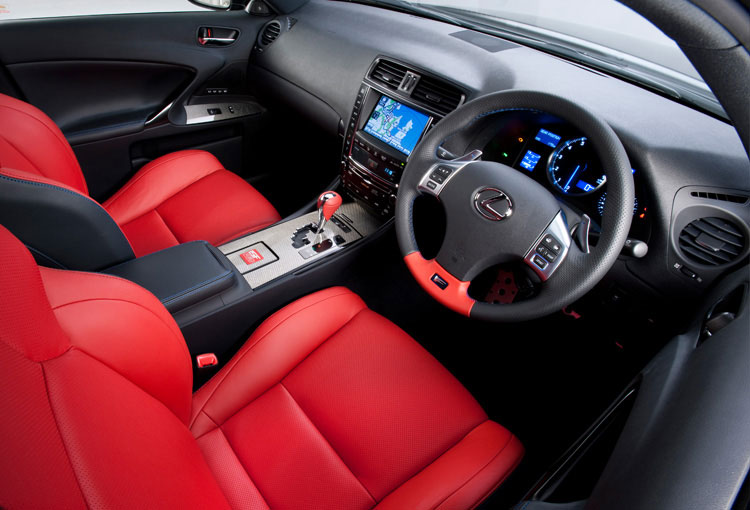 Lexus IS F Red Special Edition Interior 1