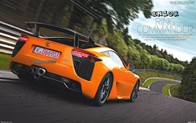 Lexus LFA Nürburgring Edition EVO Magazine Article