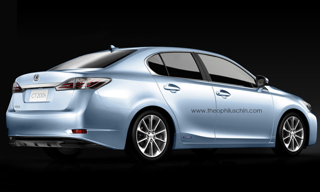 Lexus CT 200h Sedan Back