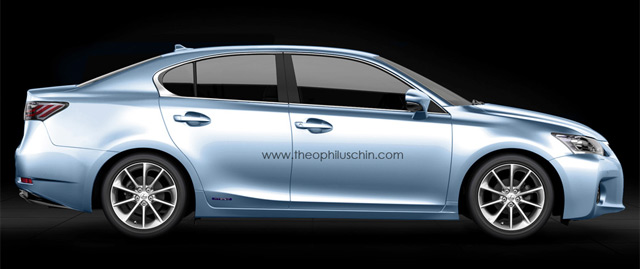 Lexus CT 200h Sedan Side Profile