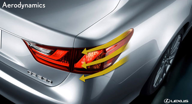 Lexus GS Rear Light Aerodynamics