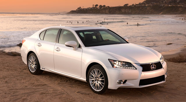 2013 Lexus GS 450h at the beach