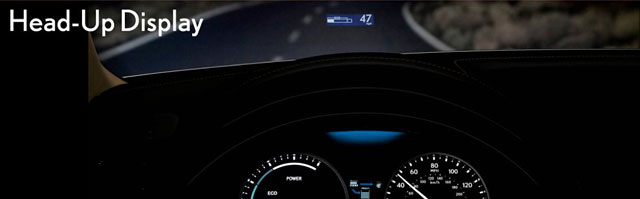 Lexus GS Heads Up Display
