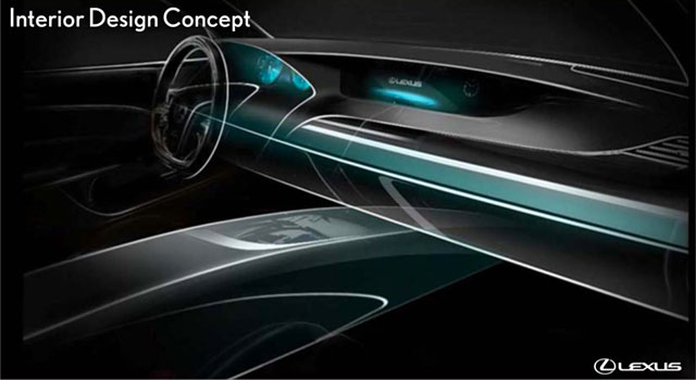 Lexus GS Interior Concept Drawing