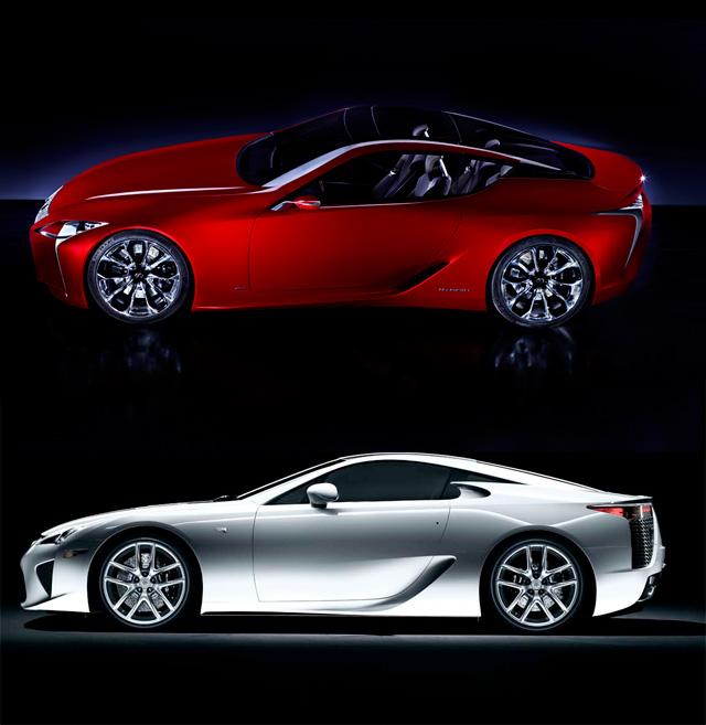 Lexus LF-LC vs Lexus LFA
