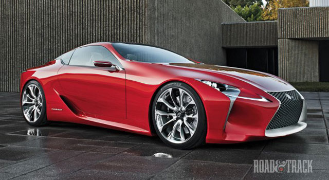 Lexus LF-LC in full effect