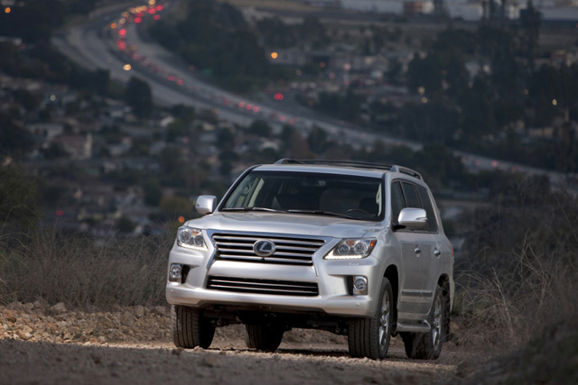 2013 Lexus LX 570 on a Hill