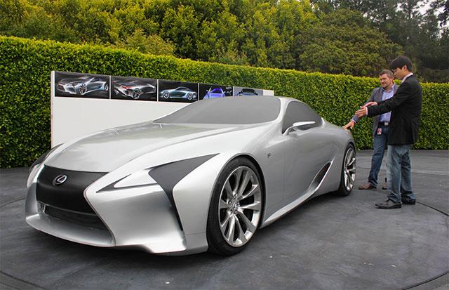 Lexus LF-LC in Silver