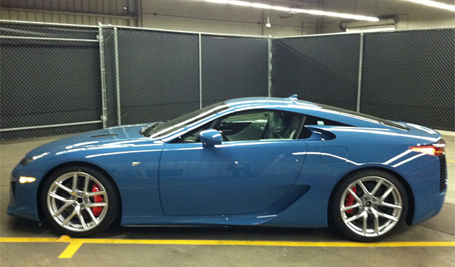 Slate Blue Lexus LFA Side Profile