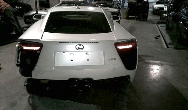 Lexus LFA Car Crash Rear