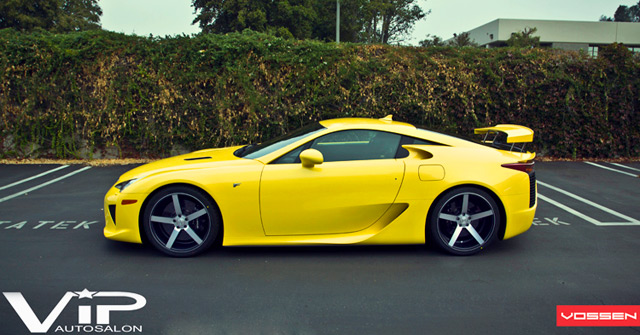 Lexus LFA on Vossen CV3 wheels