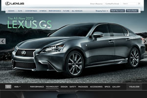 Lexus USA GS Website