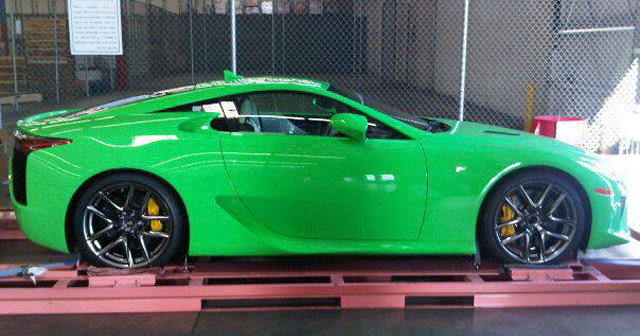 Fresh Green Lexus LFA Side
