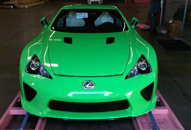 Fresh Green Lexus LFA