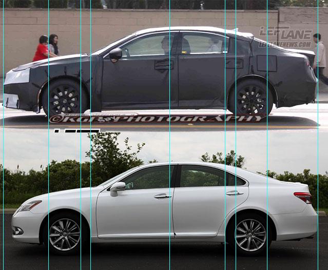 Lexus ES 2012 vs.2013
