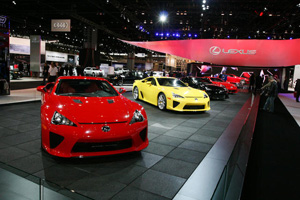 Four Lexus LFAs at Chicago Auto Show