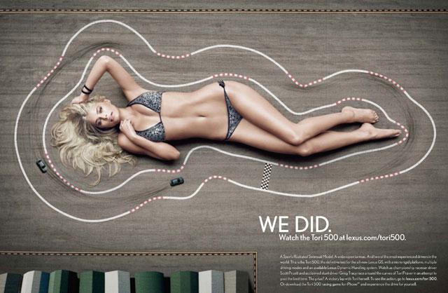 Lexus Swimsuit Model Tori Praver