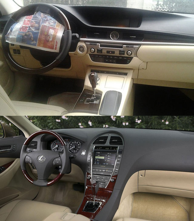 2013 Lexus ES Interior Comparison