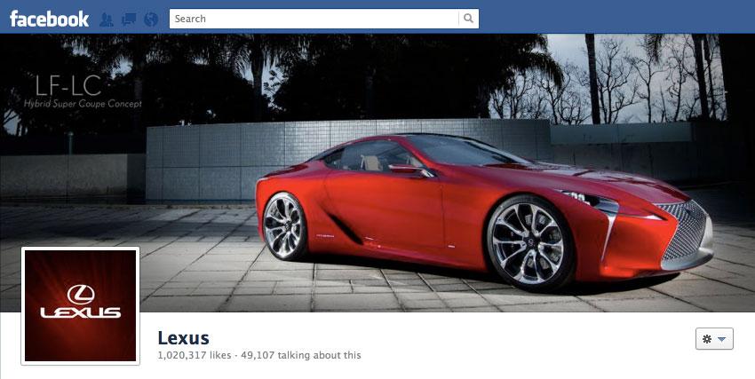 Lexus Facebook Page