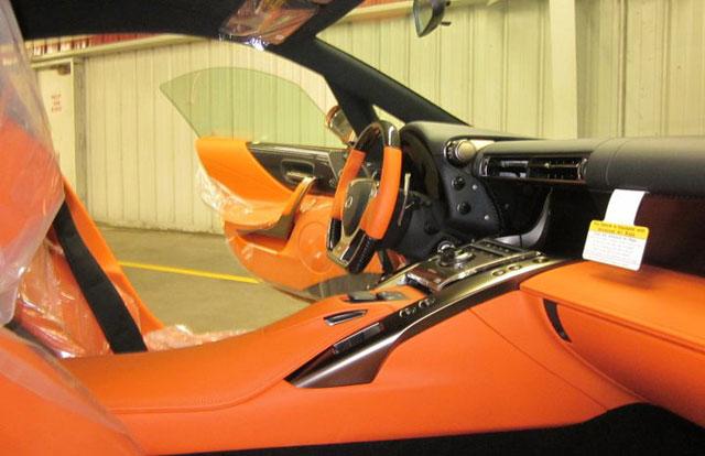 Lexus LFA Orange Interior