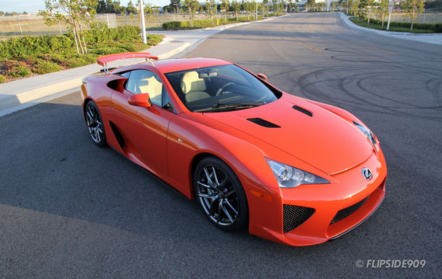 Lexus LFA in Sunset Orange