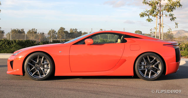 Lexus LFA in Sunset Orange Side