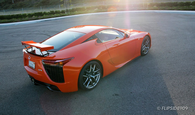 Lexus LFA in Sunset Orange Rear