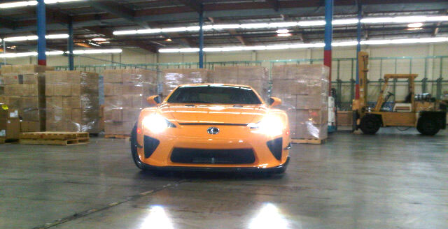 Lexus LFA Nürburgring Orange 2