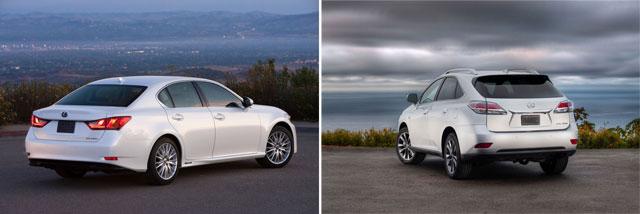Lexus GS 450h & RX 350 F Sport
