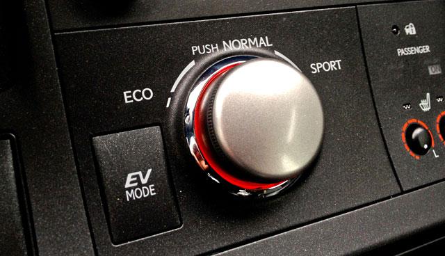 Lexus CT 200h Drive Mode Selector