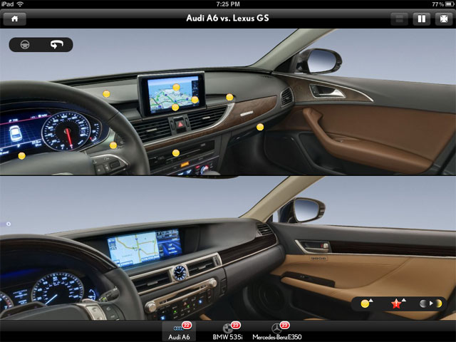 Lexus GS 350 vs Audi A6 Interior