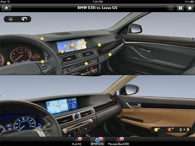 Lexus GS 350 vs. BMW 535i Interior