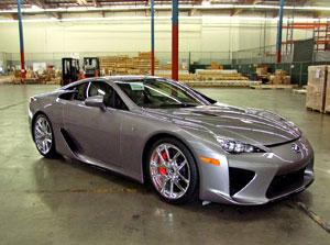 Steel Gray Lexus LFA