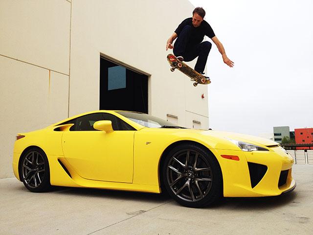 Lexus LFA Tony Hawk Jump