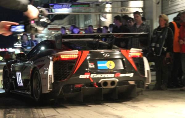Lexus LFA in the dark